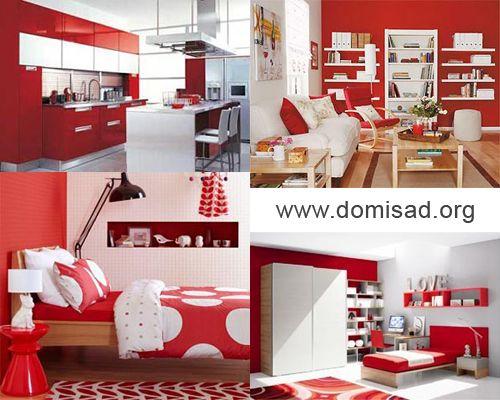Червоно-білий дизайн інтер`єру, як поєднувати червоний і білий кольори?