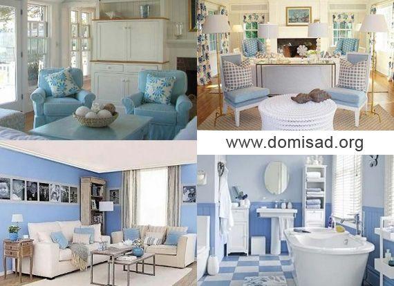 Біло-синій і біло-блакитний дизайн інтер`єру, поради та ідеї для використання.