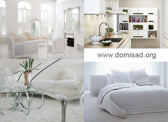 Білий інтер`єр - ідеї та поради для дизайну квартири, фото.