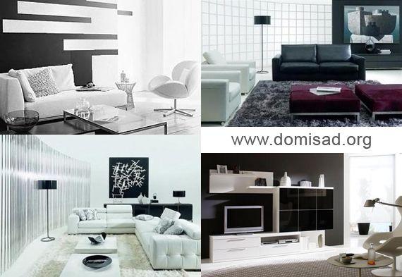 Чорно-білий інтер`єр, дизайн кімнати в чорно-білому кольорі, фото.