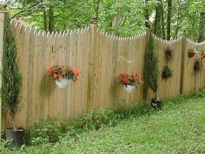 Дерев`яні паркани для дачі