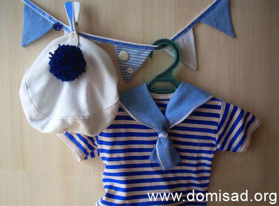 Дитячий новорічний костюм моряка для хлопчика своїми руками, майстер-клас.