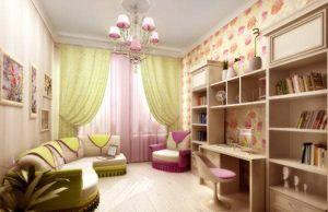 Дизайн дитячої кімнати для дівчинки, фото інтер`єрів.