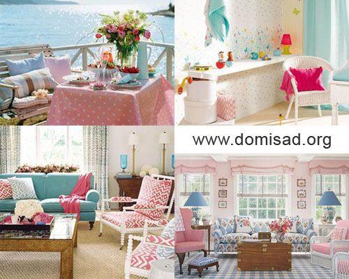 Як правильно поєднувати рожевий і блакитний кольори в дизайні інтер`єру?