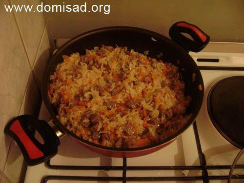 Як приготувати смачний плов в сковороді - рецепт з фотографіями.
