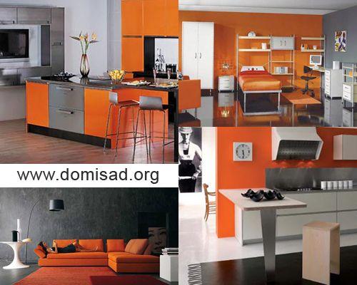 Як поєднувати сірі і помаранчеві кольори в дизайні інтер`єру?