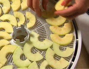 Як сушити яблука в електросушарці для фруктів: час, темпрературе, рецепти