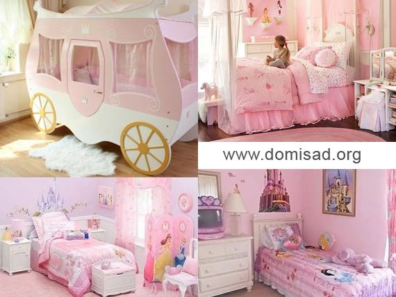 Кімната принцеси - дизайн дитячої для дівчинки, фото.
