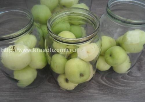 компот з яблук на зиму