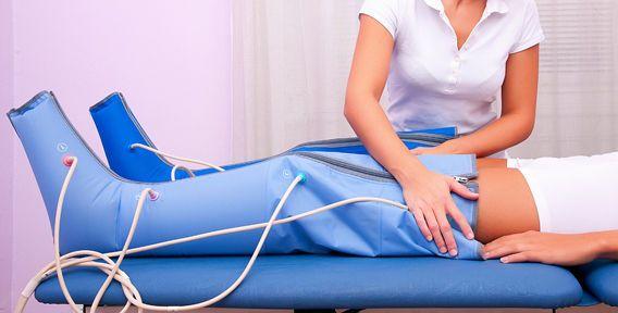 Лімфодренажний масаж ніг апаратний