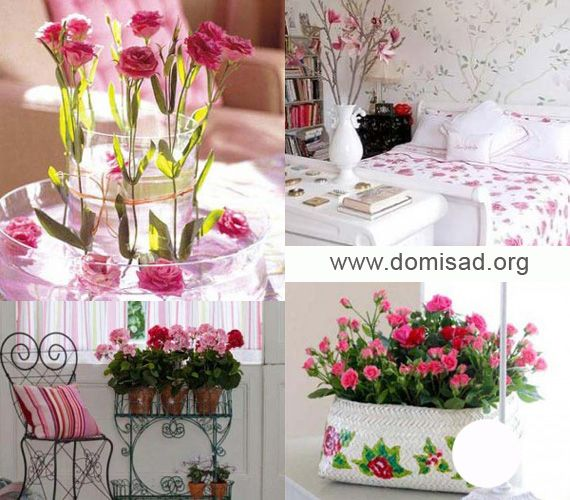 Ніжні рожеві квіти для дизайну інтер`єру в різних стилях, фото.