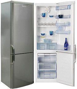 Холодильник Веко з нержавійки