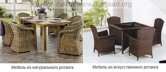 Плетені меблі з натурального і штучного ротанга для дому та саду.