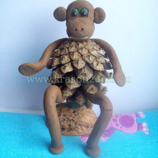 Виріб мавпа своїми руками з природних матеріалів