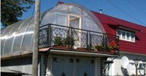 Як розмістити теплицю на даху будинку