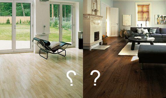 Світлий або темна підлога (дерев`яні підлоги, ламінат) в дизайні інтер`єру?