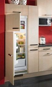 Переваги вбудованого холодильника на домашній кухні.