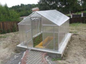 Пристрій теплиці з полікарбонату: фундамент для теплиць своїми руками